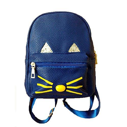 Mochilas de gato preciosas Kukul 2017 Mujer Adolescente Niña mochilas Mochila de viaje Azul