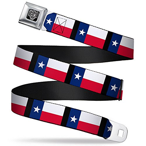 Buckle-Down Seatbelt Belt - Texas Flag/Black - 1.0