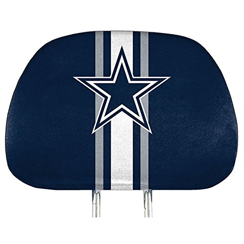 ProMark Dallas Cowboys Printed Full Color 2-Pack Head Rest Covers Elastic Auto - Printed Cowboy