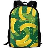 OIlXKV Abstraction Cartoon Bananas Print Custom Casual School Bag Backpack Multipurpose Travel Daypack For Adult