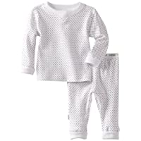 Kushies UnisexBaby Everyday Mocha Layette 2 Piece Set, White Dots, 24 Months