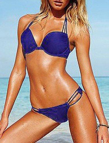 ZQ 0.5muairen? Las mujeres del pequeño cofre reunir acero prop mujeres Bañador Bikini ráfaga leche, blue-l, small blue-s