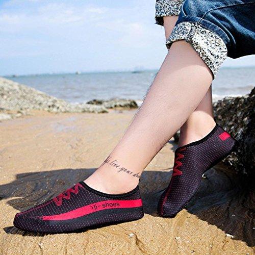 Zapatillas De Deporte Acuáticas Descalzas, Inkach Unisex Agua De Secado Rápido Swim Surf Calcetines Estampados Yoga Skin Dive Beach Zapatos Negro