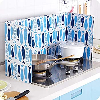 Splatter Guard Cover Bacon Grease Shield Home Stove Foil Plate Prevent Oil Splash Cooking Hot Baffle Kitchen Tool Screen Removal Scald Proof Board for Wall Oil White
