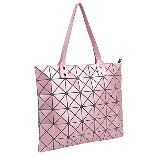 Borse Moda A Diamanti Pink Donna Geometriche Borse Cuciture Tracolla Borse 6wxtZ8q