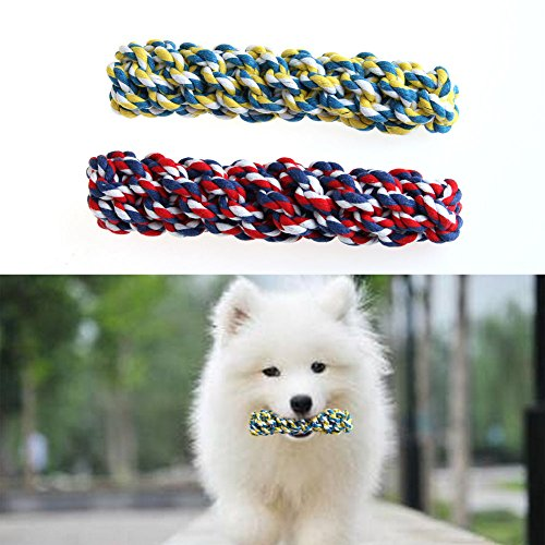 NNDA CO Pet Dog Rope Chew Multicolor Cotton Braided Corn Teeth Cleaning Molar Toy