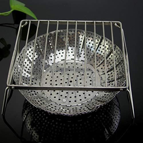 TYX-SS Petit Grill BBQ - Charbon Portable Net Pliant Barbecue Rack en Acier Inoxydable Grill Mini Outils Barbecue pour Camping Park,M