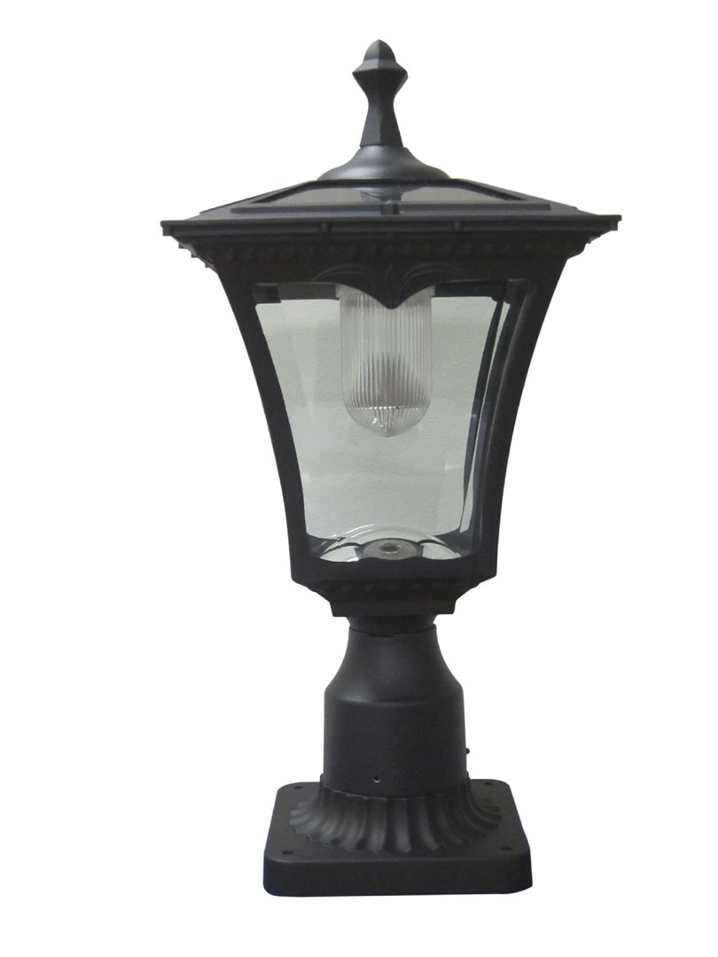 lights powered solar outdoor light lamp garden post