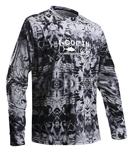 28cdb876 Men's Performance Long Sleeve Shirt UV Sun Protection UPF50 Fishing Outdoor Long  Sleeve T-Shirt