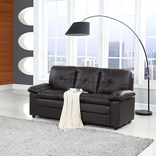 Classic Faux Leather Living Room Sofa Couch