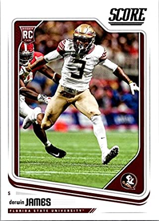 2018 Score  375 Derwin James Florida State Seminoles Rookie RC Football Card cee11b183