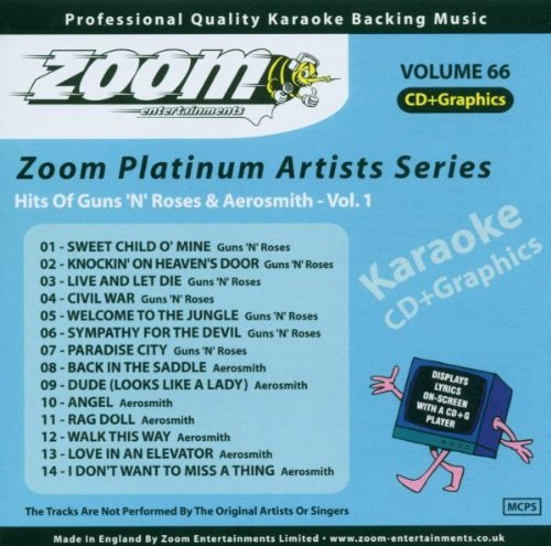 Guns N Roses - Zoom Karaoke Cdg - Platinum Artists 66 Guns