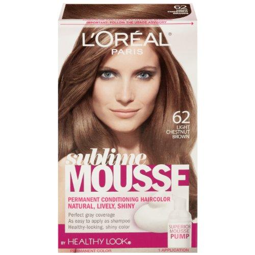 L'Oreal Paris Sublime Mousse by Healthy Look Hair Color, 62 Light Chestnut Brown