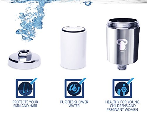 shower filter system universal chlorine removing showerhead hard water softener two. Black Bedroom Furniture Sets. Home Design Ideas