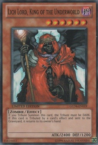 Yu-Gi-Oh! - Lich Lord, King of the Underworld (GLD4-EN019) - Gold Series 4:  Pyramids Edition - Limited Edition - Common