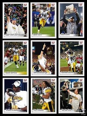 Pittsburgh Steelers Coin Set - PITTSBURGH STEELERS 2009 SUPER BOWL XLII CHAMPIONS TRIBUTE 9 CARD TEAM SET! ROETHLISBERGER/WARD/HARRISON/POLOMALU/HOLMES/TOMLIN!