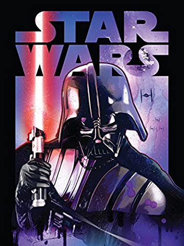Disney Lucas Films' Star Wars Darth Vader with Light Saber Classic Printed Coral Fleece Warm Sherpa Throw / Blanket, 60 by 80