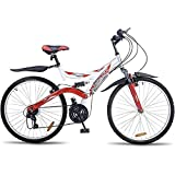 Hero Octane 26T DTB Alloy 21 Speed Adult Cycle, White/Red