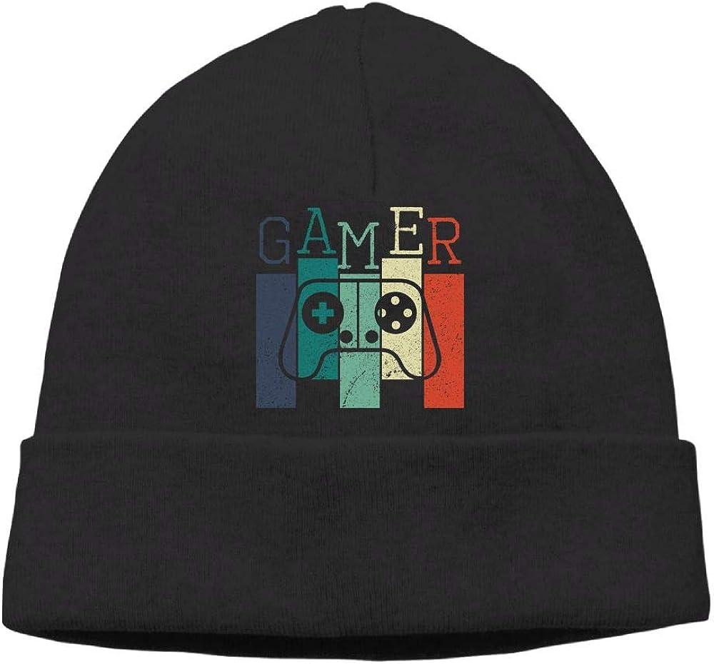 Poii Qon Gamer Handle Beanies Hat Skull Caps Woman Man