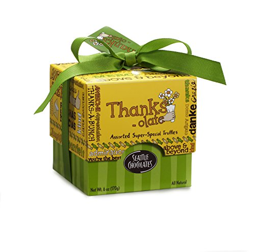 Seattle Chocolates Thanks-Olate Gift Box, 6 Ounce