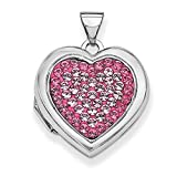 ICE CARATS 925 Sterling Silver 18mm Heart Preciosa Crystal Photo Pendant Charm Locket Chain Necklace That Holds Pictures Fine Jewelry Ideal Gifts For Women Gift Set From Heart