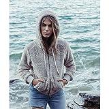 Billabong Women's Cozy Down Hooded Zip up, Coconut Shell, L