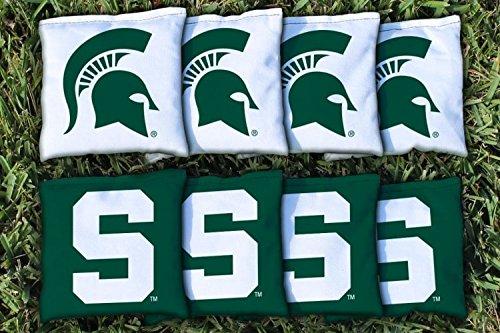 8 Michigan State Spartans Regulation Cornhole Bags (corn (Michigan State Bean Bag)