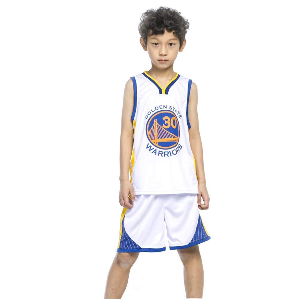 Bambini Ragazzi Ragazze Uomini Adulti Pullover di Pallacanestro Tute estive Kit Top Pantaloncini 1 Set Bianco TFTREE Golden State Warriors Stephen Curry # 30 Jersey