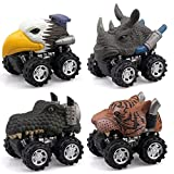 Putars 4Pc Animal Children Gift Toy Dinosaur Model Mini Toy Car Gift Pull
