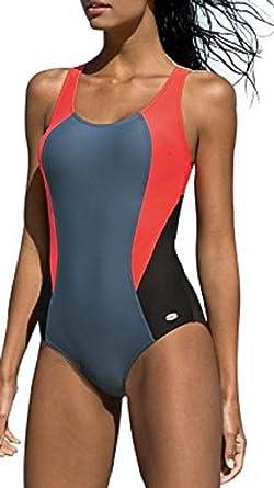 reputable site 5d363 97cb1 LORIN Badeanzug fur Damen Endurance einteiliger Schwimmanzug Vorgeformte  BH-Cups