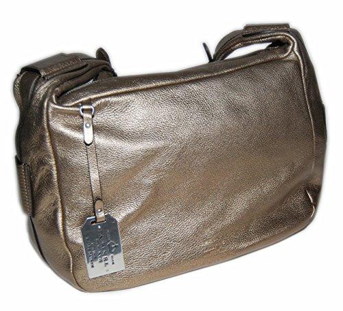 Ralph Lauren Womens Polo Collection Leather Dress Handbag Purse Bag Bronze Gold (Ralph Polo Lauren Handbags)