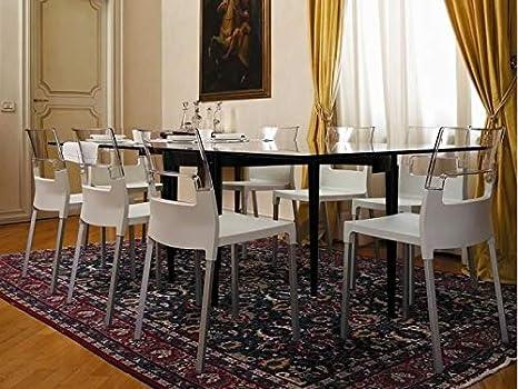 Sedia diva color lino trasparente scab amazon casa e cucina