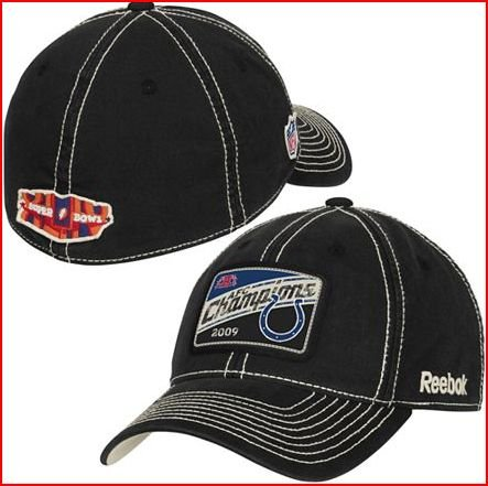 Indianapolis Colts 2009 / 2010 AFC Conference Champions w/ Super Bowl 44 Logo Locker Room Hat