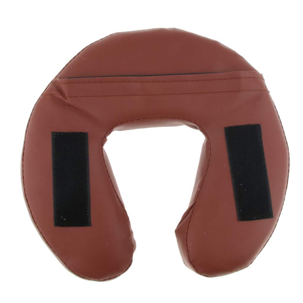 Poggiatesta Per Lettino Da Massaggio Cuscino Di Riposo Per Lettino Portatile E Regolabile E Per Il Viso rivestimento In Pelle, Fac - Marrone, 28cm Hellery Confezione Da 3