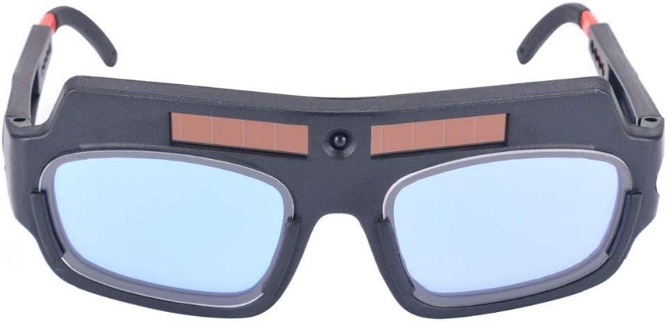 Uzinb Solar Powered Máscara de oscurecimiento automático Casco de Soldadura de Arco PC Lentes de Gafas Soldador Lente Gafas de protección para Soldadura