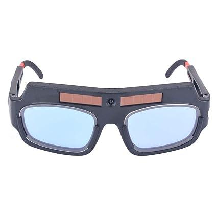 Solar Powered Máscara de oscurecimiento automático casco de soldadura de arco PC Lentes de gafas Soldador