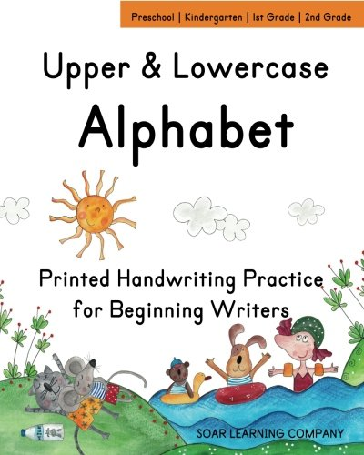 Upper & Lowercase Alphabet: Printed Handwriting Practice for Beginning Writers