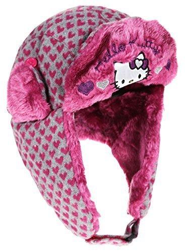 4716bc3a988 Bonnet Chapka maille et fourrure enfant fille Hello kitty 3 coloris de 3 à  9ans (