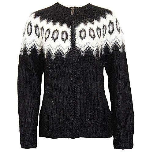 ICEWEAR Hulda 100% Icelandic wool hand knitted Jumper with Zipper - Icelandic Sweaters Wool