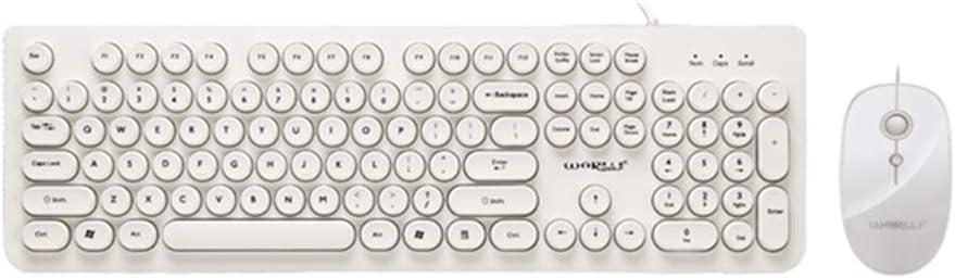 Combo de teclado y ratón con cable, moderno teclado con ...