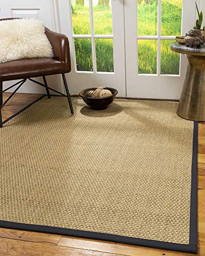 NaturalAreaRugs 100%, Natural Fiber Handmade Basket Weave Calabria, Natural Seagrass Rug (4