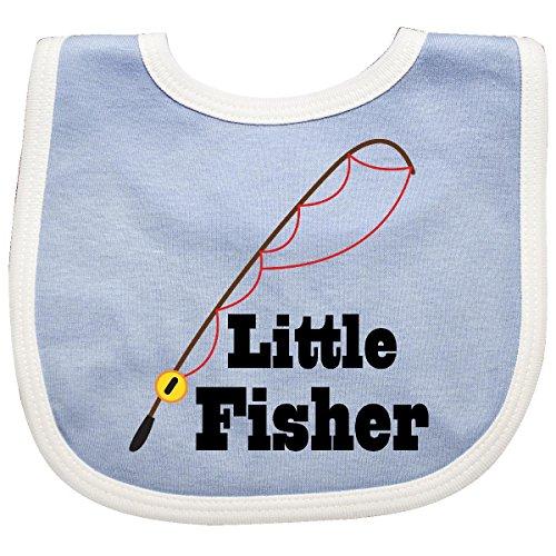 Inktastic - Little Fisher Fishing Baby Bib Blue/White fcaf ()