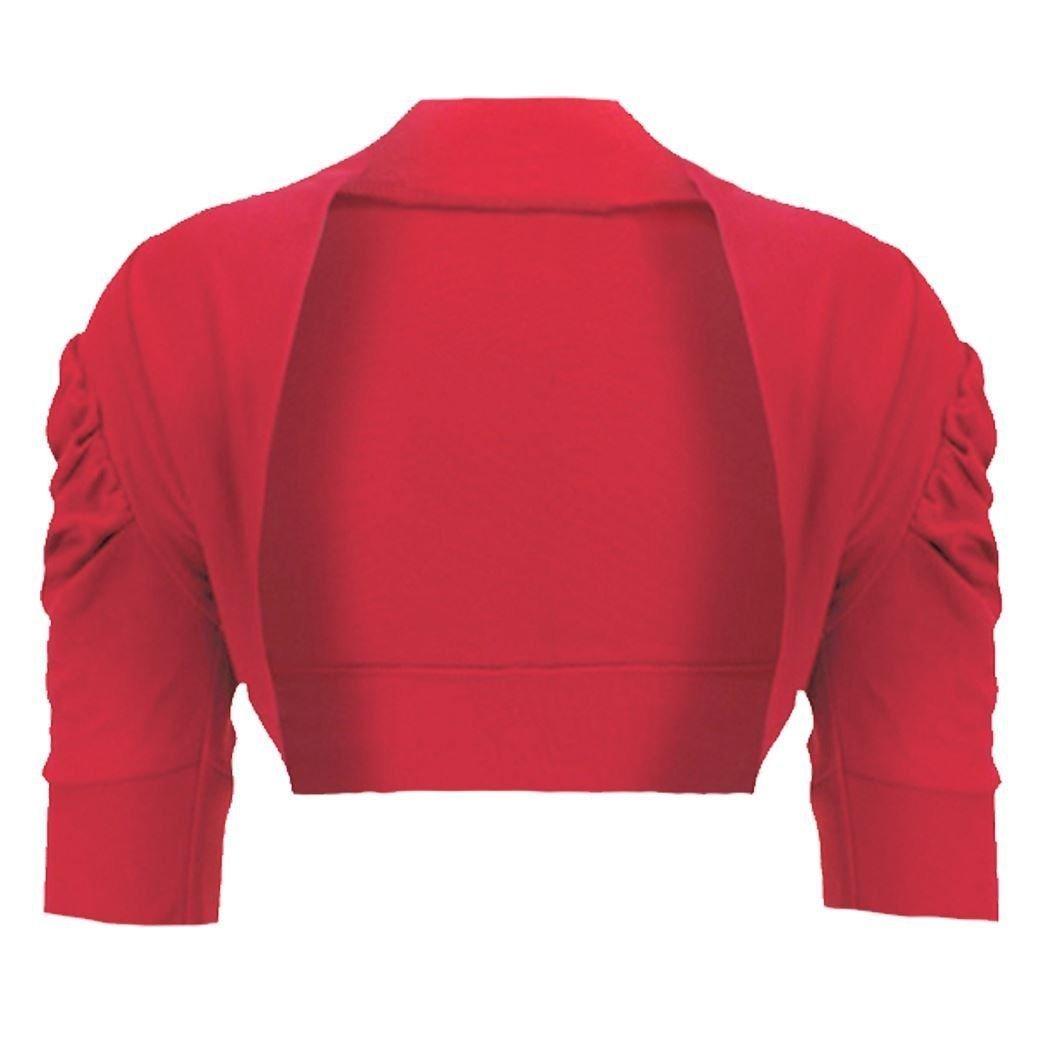 Mymixtrendz® Kids Bolero Ruched Sleeve Girls Long Sleeve Shrug 7-13 MMT