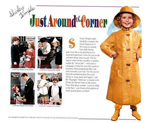 Shirley Temple - Just Around The Corner - Famous American Actress - Beautiful Collectors Stamps - Dominica