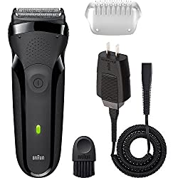 NEW! Braun Series 3 Facial Hair and Beard Men's Grooming Trimmer Waterproof Cordless Rechargeable Electric Shaver/Razor