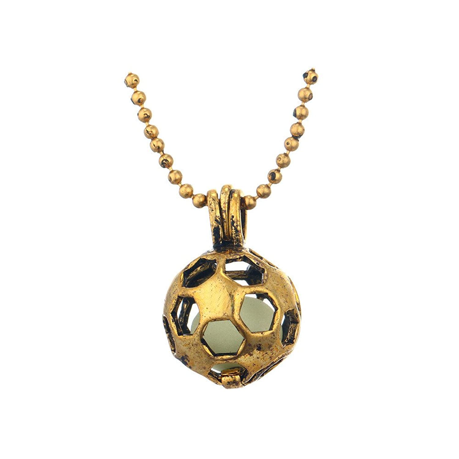 com soccer gold fans couple kids women chain womens s for set sport girls football small necklace men sl pendant dp jewelry amazon ball boys