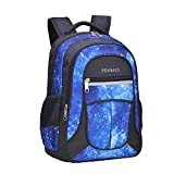 Galaxy Backpack for Little Kids, Boys by Fenrici, 16.1 Inch Durable Book Bags for Preschool, Kindergarten Students, Supporting Kids with Rare Diseases