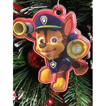 Amazon.com: Paw Patrol's Chase Christmas Tree Ornament ...