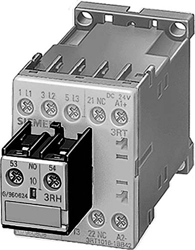 Siemens 3RH1921-1FC22 AUXILIARY SWITCH BLOCK 22U, 2NO+2NC, DIN EN 50005, SCREW CONNECTION, SIZE S0...S12