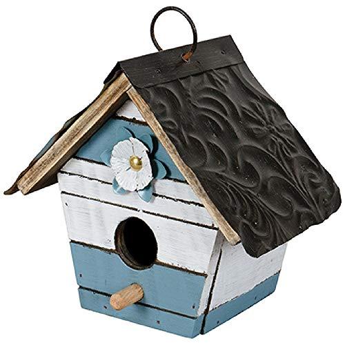 Carson Teal Slat Birdhouse ()